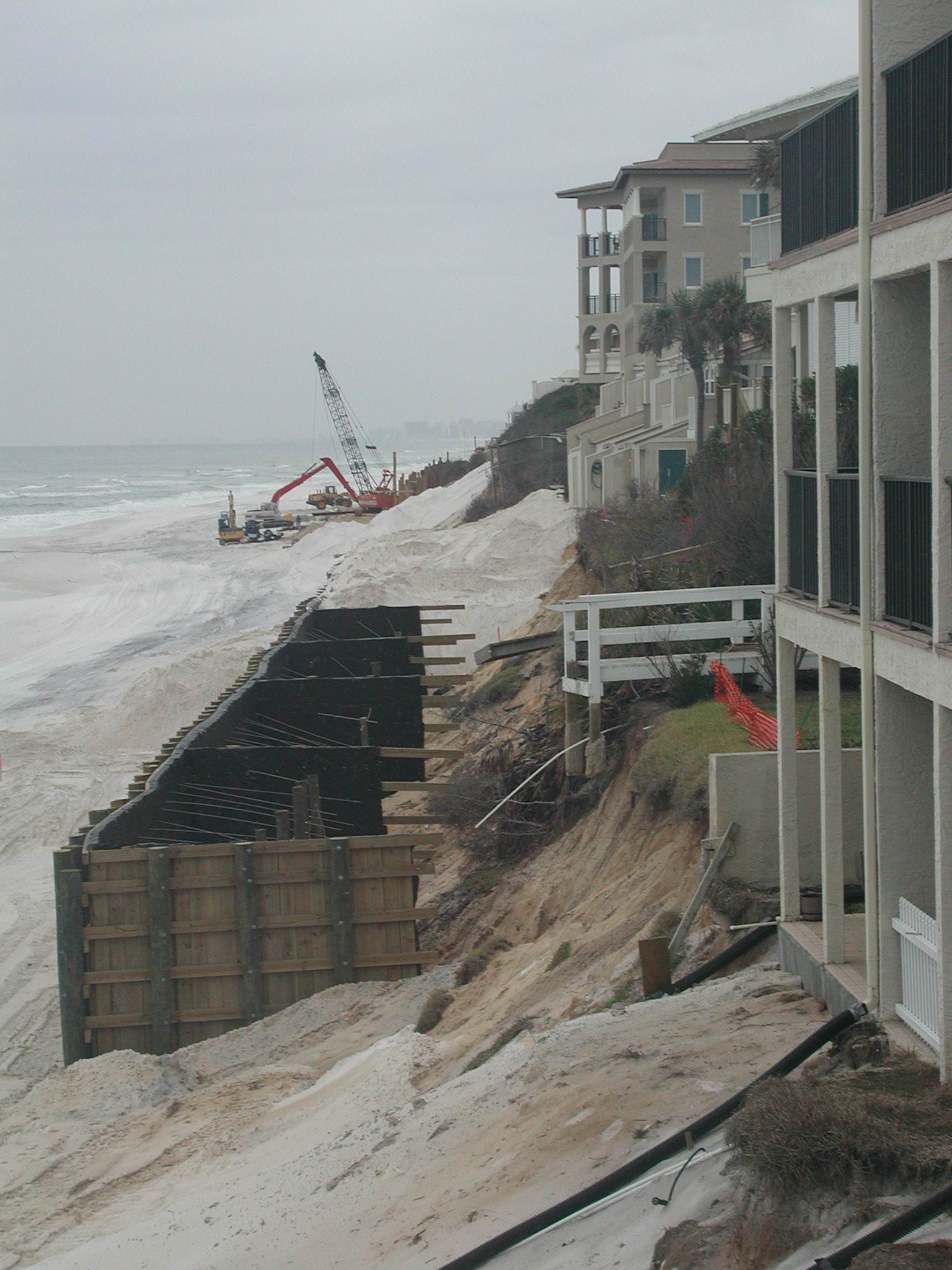 Hurricane Dennis Damage Retaining Wall Issues